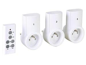 jeu de 3 prises prise secteur telecommandees radiopilotees. Black Bedroom Furniture Sets. Home Design Ideas