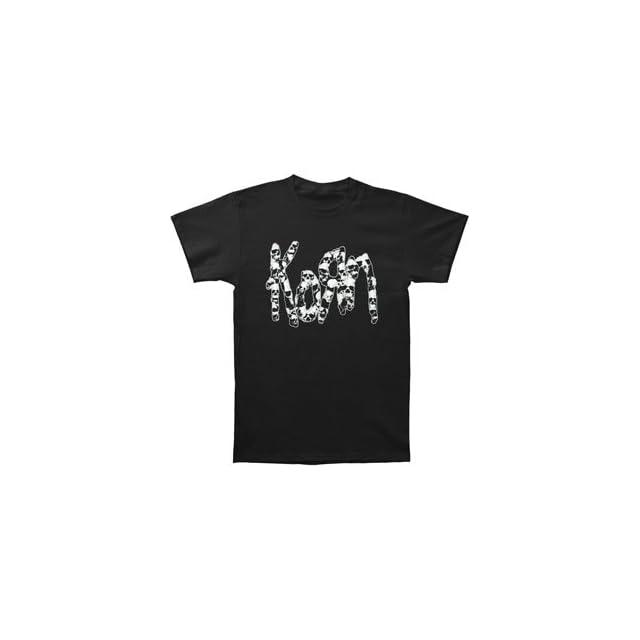Korn Mens Glow Skull T shirt Black
