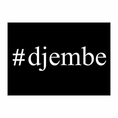 Teeburon Hashtag Djembe Pack of 4 Decal