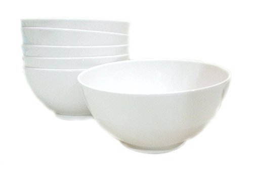 White Melamine Bowls for Sauce, Soup, Cereal, Yogurt, Dips or Rice 4-Inch, (Set of 6) (Restaurant Aro compare prices)