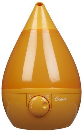 Crane Drop Shape Ultrasonic Cool Mist Humidifier with 2.3 Gallon output per day - Orange