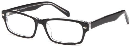Mens Wayfarer Glasses Frames Black Prescription Eyeglasses 51-16-135