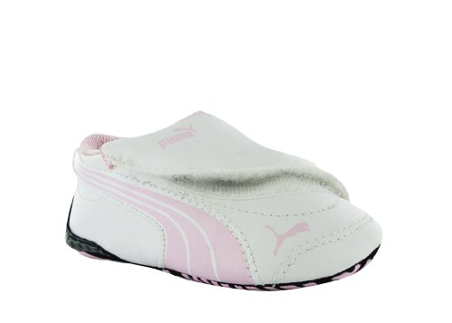 PUMA Infant/Toddler Drift Cat III L LW Crib Sneaker,White/Pink Lady/White,4 M  US Toddler