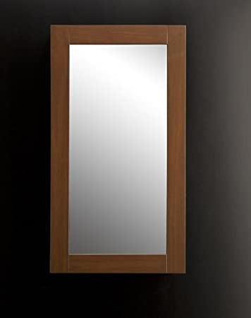 "Lacava Surface-mounted or self-framing recessed medicine cabinet with mirrored door, 18""W, 5""D, 32""H Caramel Bamboo Console"
