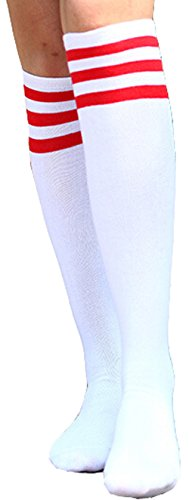 Freedi Womens Soccer Baseball Football Sport Knee High Athletic Socks
