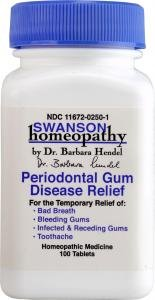 Swanson Homeopathic Remedy Periodontal Gum Disease Relief (100 Tablets)