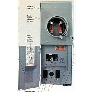 Buy Combination Underground/Overhead Temporary Site Pa (Connecticut Electric ,Lighting & Electrical, Electrical, Circuit Breakers Fuses & Load Centers, Panels)