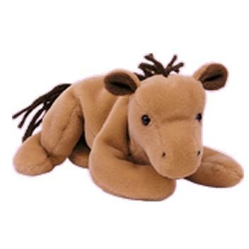TY DERBY the HORSE BEANIE BABY - NO STAR - COARSE MANE