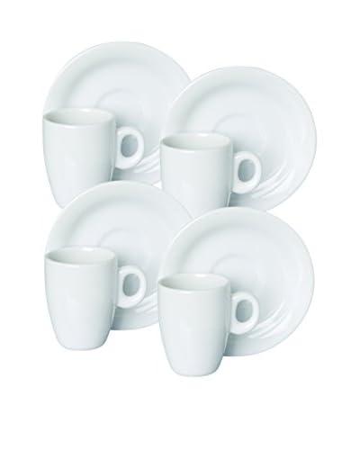 Set x 4 Tazas de Café + Platos Slim
