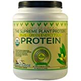 BALANCED GREEN SUPREME PLANT PROTEIN with GREENS - Certified Organic PLANT PROTEIN with 14 Superfoods- Formualted for Health, Energy, Vitality - 38 SERVINGS -Perfect Meal - Vanilla