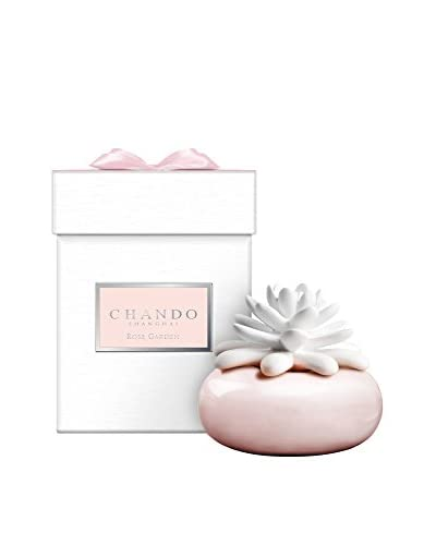 CHANDO Elegance Collection 40ml White Lotus Small Mini Porcelain Diffuser, Rose Garden