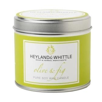 Heyland Whittle Candle In A Tin Olive And Fig Scent by Heyland & Whittle