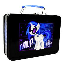 "1 X My Little Pony Tin DJ P0N-3 ""Vinyl Scratch"" Lunchbox"