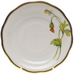 Herend American Wildflowers California Poppy Tea Saucer