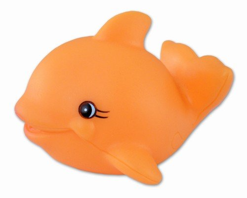 Puzzled Bath Buddy Orange Whale Water Squirter - 1