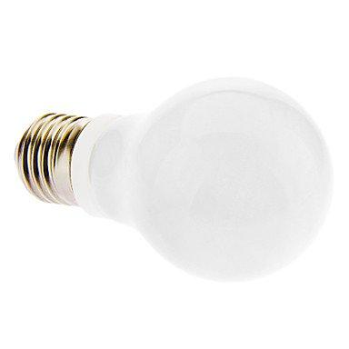 M.M E27 3W 6000K Cool White Light Led Milky Globe Bulb (230V)
