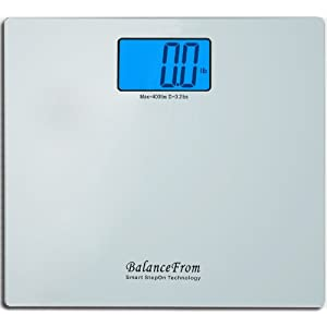 BalanceFrom High Accuracy Digital Bathroom Scale with Large Backlight Display and