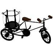Desi Karigar Rickshaw Bottle Holder Gift Item House Kitchen Kids Wooden Fancy Showpiece