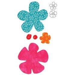 Accuquilt Go! Fabric Cutter Die Funky Flowers Die