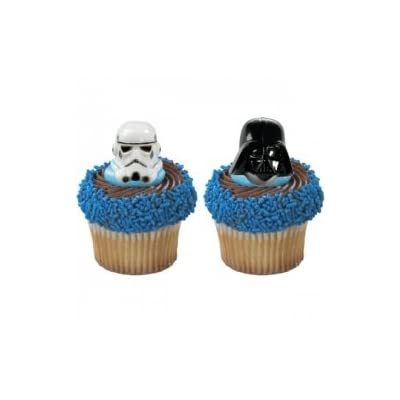Star Wars Clone Darth Cupcake Cake Party Favor Rings Ebay