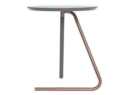 Leitmotiv Tisch mit Kupferbein, Grau, Buche