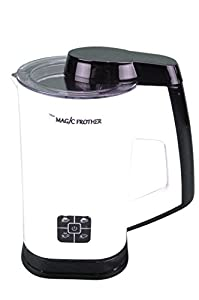 The Magic Frother - Premier Deluxe Automatic Electric Milk Frother and Heater Carafe for Coffee, Cappuccino, Latte, Hot Chocolate, Hot and Cold Froth or Heat only, Soft Touch Buttons