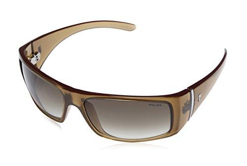 Police Police Rectangular Sunglasses (Brown) (S1594|7H7|59)