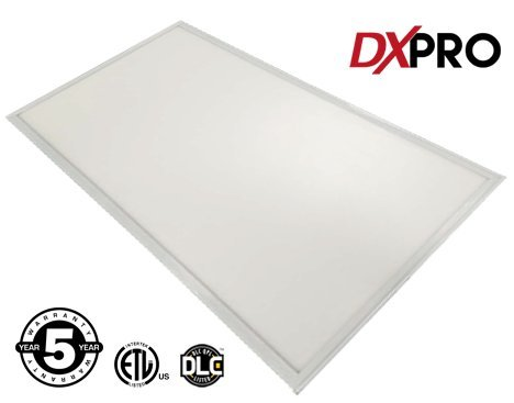DXpro LED Panel 2×4 ComfortVIEW – 50W (4 x 32W Equivalent) – 24inx48in – Crystal White Glow 5000K – Dimmable 0-10V – 5Yr Warrany – ETL, DLC (Rebate Programs Eligible)