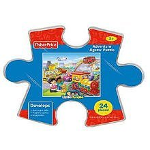 Fisher Price Adventure Jigsaw Puzzle - City Vehicles - 1