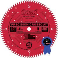 Freud LU80R010 10-Inch 80 Tooth Hi-ATB Ultimate Plywood and Melamine Cutting Saw Blade with 5/8-Inch Arbor
