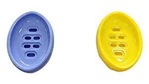 Hanbao Beauty Soap Box(pack of 2,Yellow-Blue)
