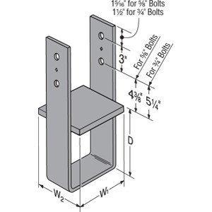 Simpson Strong Tie CB66  7-Gauge Column Base