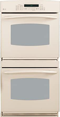 "GE PT956DRCC Profile 30"" Bisque Electric Double Wall Oven - Convection"