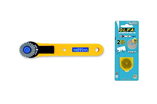 Olfa Prc-3 28Mm Perforation Rotary Cutter With 2 Free Spare Blades