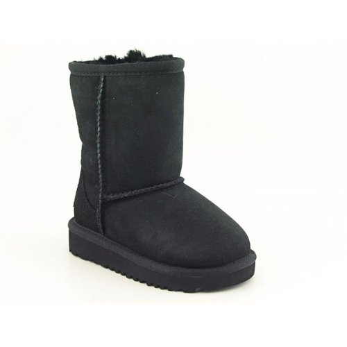Ugg Australia Classic Infant Baby Girls Size 11 Black Suede Winter Boots