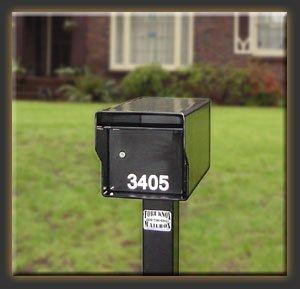 Fort Knox Mailbox SM Standard B Small Standard Mailbox - Black