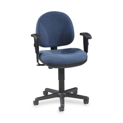 Lorell Adjustable Task Chair, 24 by 24 by 33-Inch to 38-Inch, Blue