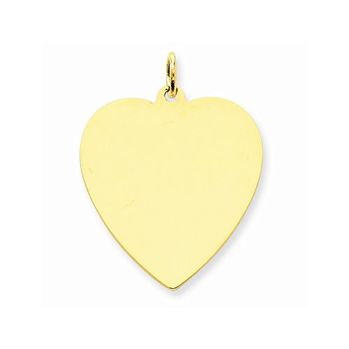 14k Yellow Gold Plain .013 Gauge Engraveable Dog Tag Disc Charm