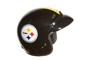 Brogies Bikewear NFL Pittsburgh Steelers Motorcycle Three Quarter Helmet (Black,... by Brogies Bikewear