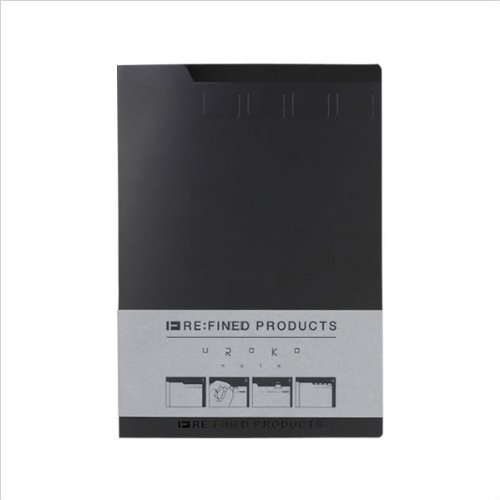 マークス RE:FINED PRODUCTS ウロコノ-ト・A5 ブラック RFP-NB2-BK [オフィス用品]