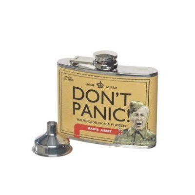 Dad's Army - Don't Panic! Hip Flask & Funnel