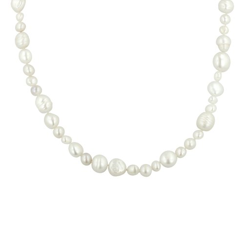 White Multi-Shape Freshwater Cultured Pearl Endless Necklace (5-11mm ), 62