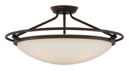 Quoizel QF1201SWT Quoizel 25-Inch Diameter Semi Flush Mount Light Fixture