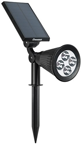 HumaBuilt Solar Powered Garden Spot Light Outdoor Spotlight for Walkways, Security, Etc ...