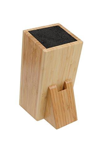 Messerblock universal aus Bambus inkl. Schlitz für Scheren