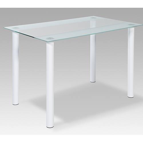 Esstisch-Tisch-Kchentisch-Esszimmertisch-rechteckig-Glastisch-Glasplatte-Milchglas-wei-satiniert-110-x-70-cm
