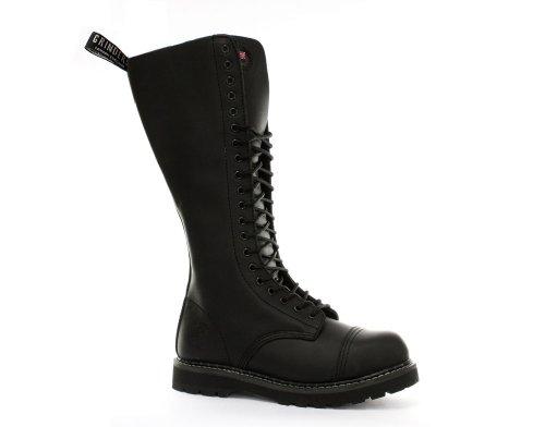 Grinders King Black Mens Safety Steel Toe Cap Boots US 12