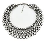 Fun Daisy Grand UK Princess Kate Middleton Hot Silver Rhinestone Fashion Necklace