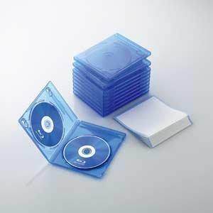 【クリックでお店のこの商品のページへ】ELECOM ブルーレイディスクケース 2枚収納 10パック クリアブルー CCD-BLU210CBU: パソコン・周辺機器