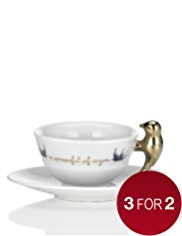Bird Song Vintage Style Tea Cup & Saucer Set
